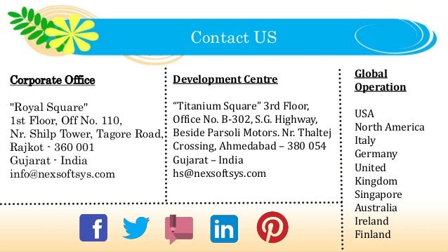"""Contact US Corporate Office """"Royal Square"""" 1st Floor, Off No. 110, Nr. Shilp Tower, Tagore Road, Rajkot - 360 001 Gujarat ..."""