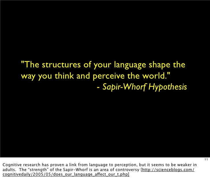 saphir-whorf thesis objectification Saphir whorf thesis objectification how to make a grad school resume dissertation research fellowship essay on importance of yoga in personality development.
