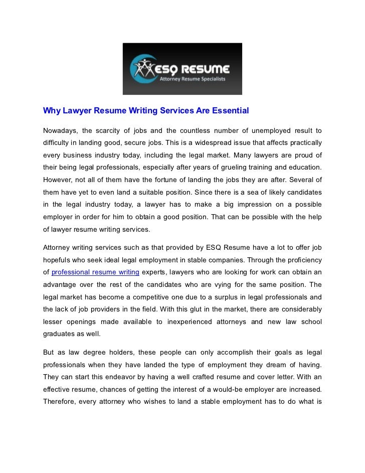Why Lawyer Resume Writing Services Are EssentialNowadays, The Scarcity Of  Jobs And The Countless Number ...