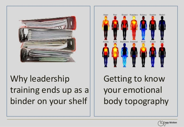Why leadership training ends up as a binder on your shelf  Getting to know your emotional body topography
