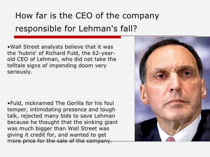Why Lehman Bros Went Bust!!