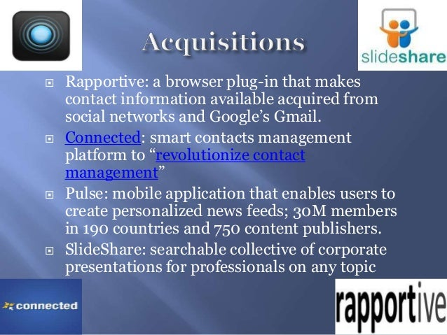  Rapportive: a browser plug-in that makescontact information available acquired fromsocial networks and Google's Gmail. ...