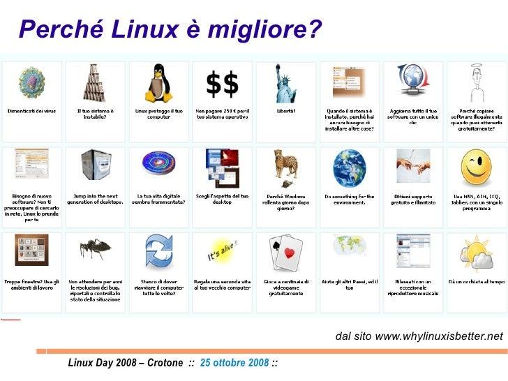 Perché Linux è migliore? dal sito www.whylinuxisbetter.net