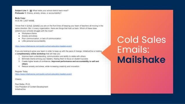 Cold Sales Emails: Mailshake