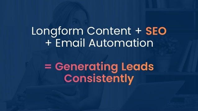 Longform Content + + Email Automation