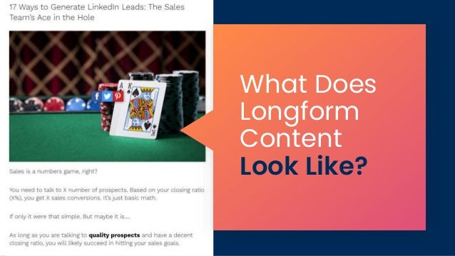 What Does Longform Content Look Like?