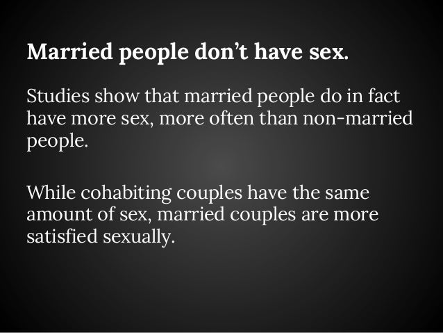 How frequently do married people have sex
