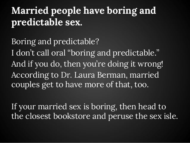 Boring sex in marriage — 8