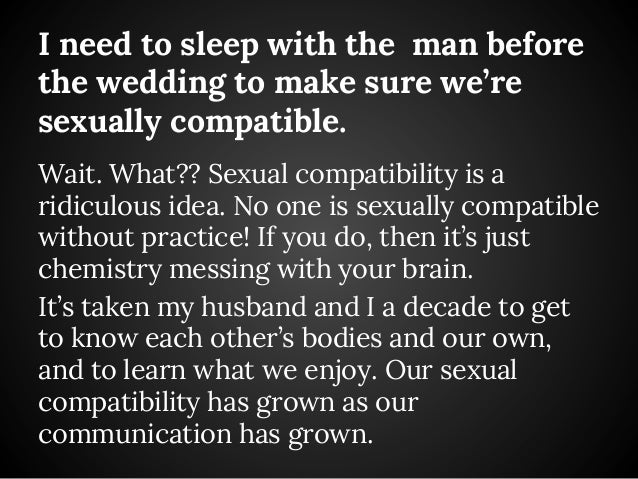 Married but not sexually compatible