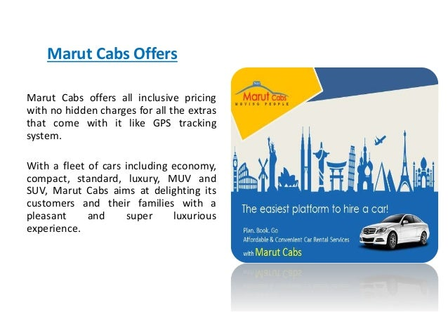Why Marut Cabs Car Rental Package Is The Best For