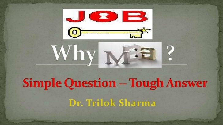 Dr. Trilok Sharma