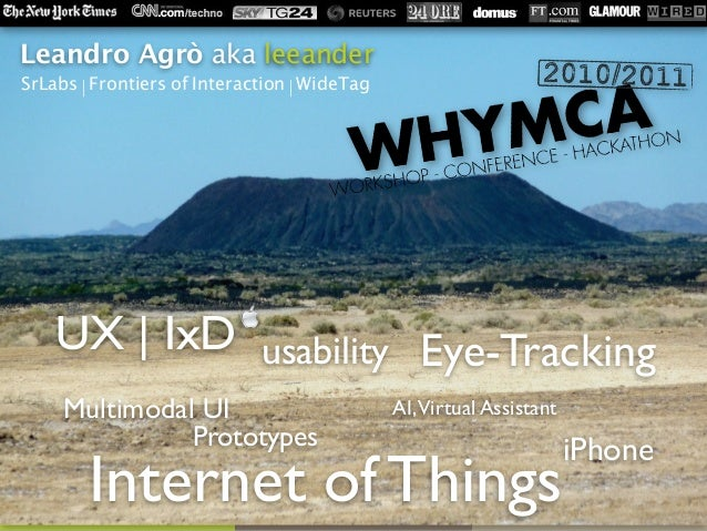 usabilityUX | IxD AI,Virtual Assistant Internet of Things Prototypes iPhone Eye-Tracking Multimodal UI Leandro Agrò aka le...