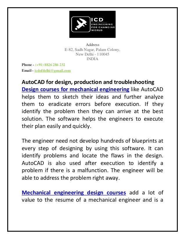 Why Mechanical Engineers Should Opt For Short Term Auto Cad Training