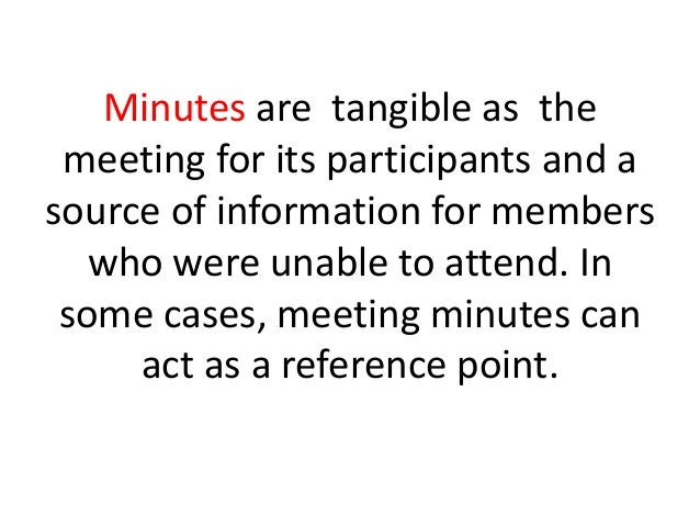 why meeting minutes are important ppt