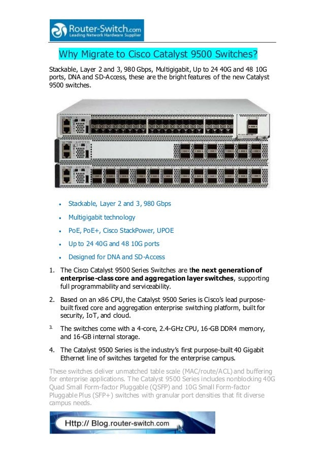 Why migrate to cisco catalyst 9500 switches
