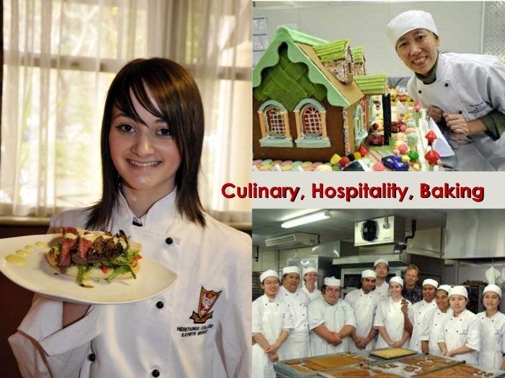 Culinary, Hospitality, Baking