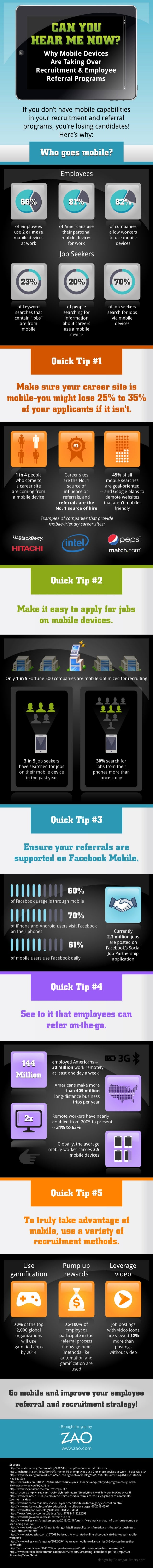 Why Mobile Devices Are Taking Over Recruitment and Employee Referral Programs [INFOGRAPHIC]