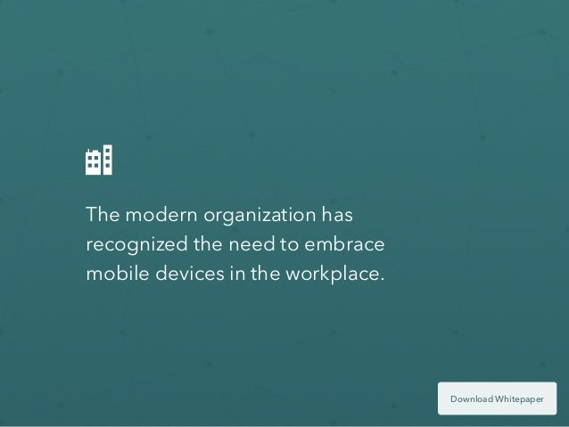 Mobile Security: The 5 Questions Modern Organizations Are Asking Slide 2