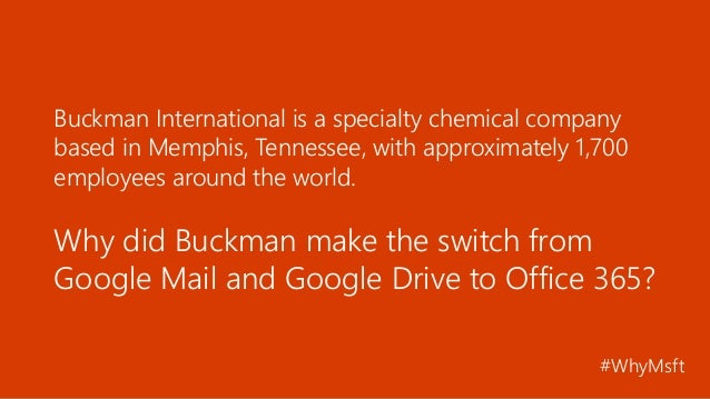Chemical Company Switches to Office 365, Simplifies IT Slide 2