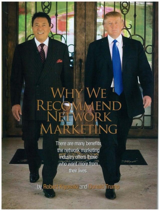 Why Robert Kiyosaki & Donald Trump Recommend Network Marketing