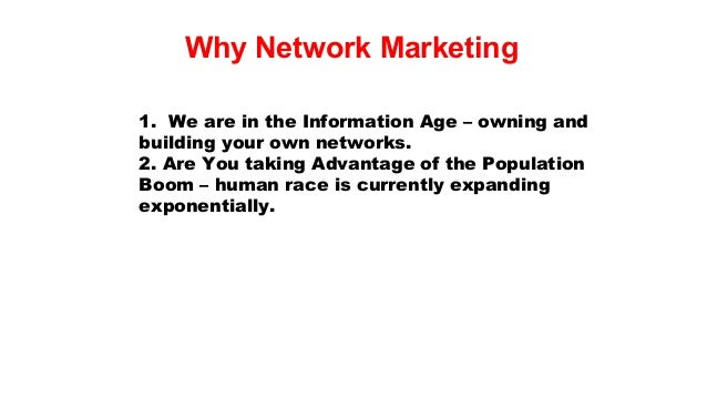 Why network marketing dmr