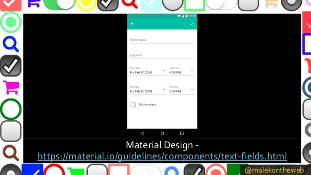 @malekontheweb Material Design - https://material.io/guidelines/components/text-fields.html