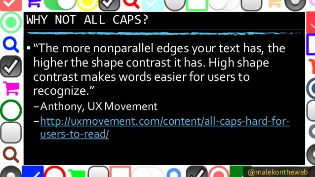 """@malekontheweb WHY NOT ALL CAPS? ▪ """"The more nonparallel edges your text has, the higher the shape contrast it has. High s..."""