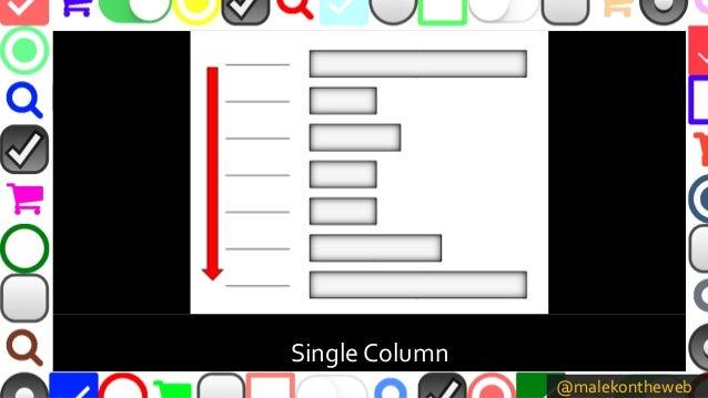 @malekontheweb Single Column