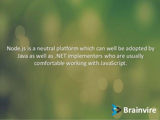 Why node.js better than java and .net Slide 3