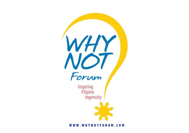 WWW.WHYNOTFORUM.COM