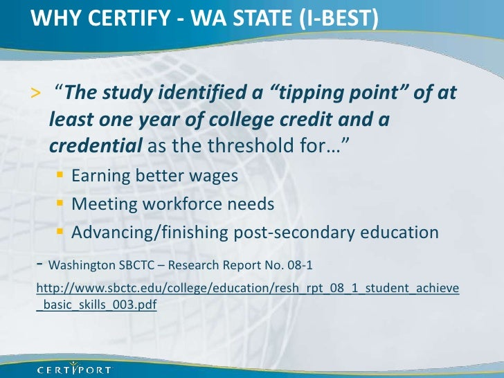 Why offer certifications in secondary cte courses (bpa nlc 2012)