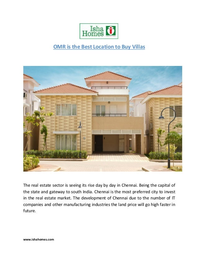 why omr is the best location to buy your villa