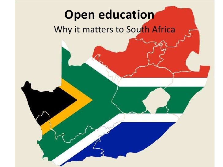 Open educationWhy it matters to South Africa