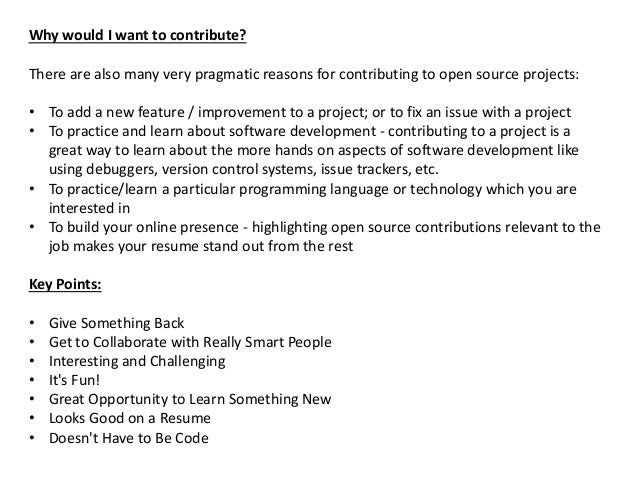Why Contribute To Open Source Projects