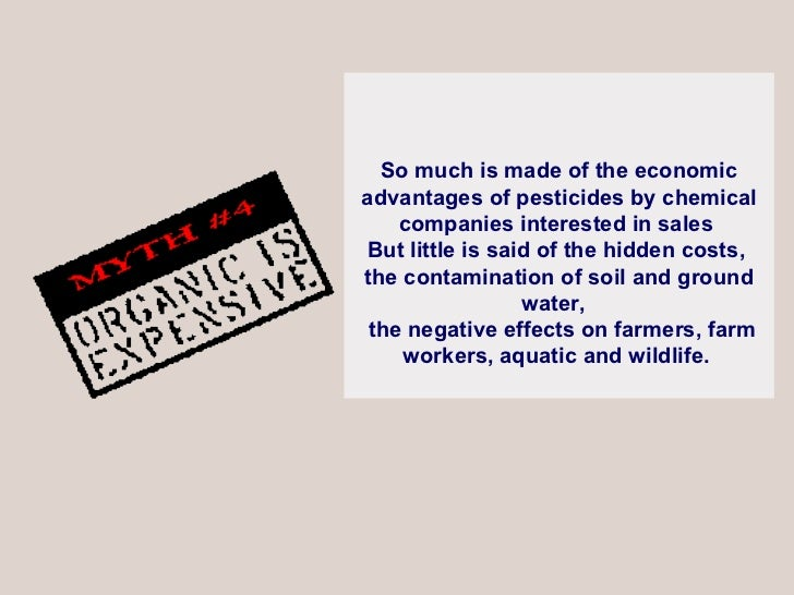 So much is made of the economic advantages of pesticides by chemical companies interested in sales  But little is said of ...