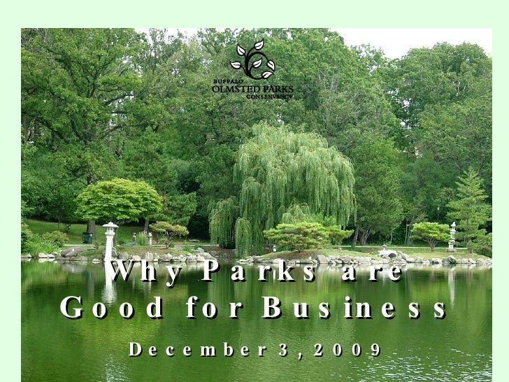 Why Parks are Good for Business December 3, 2009