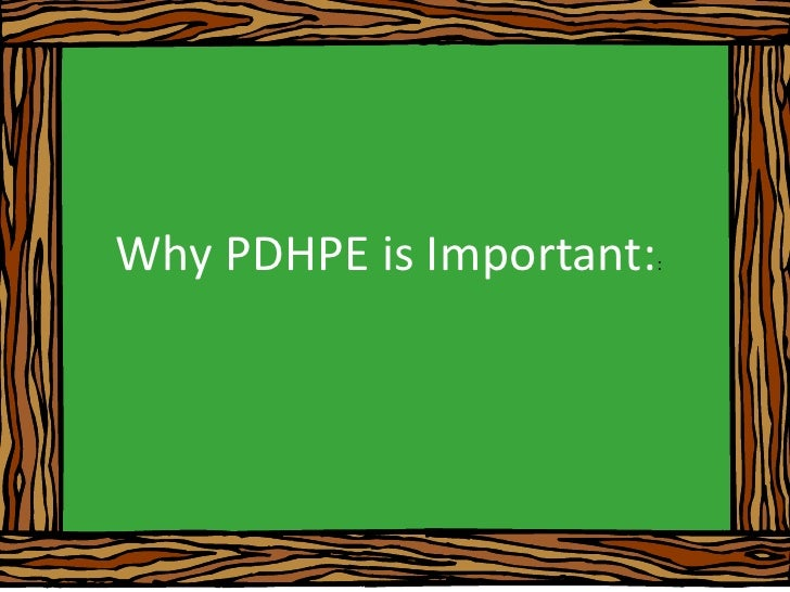 Why PDHPE is Important::<br />