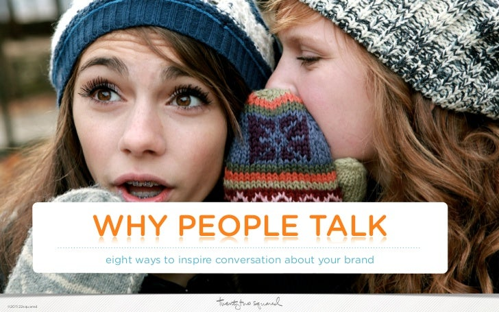 Why People Talk