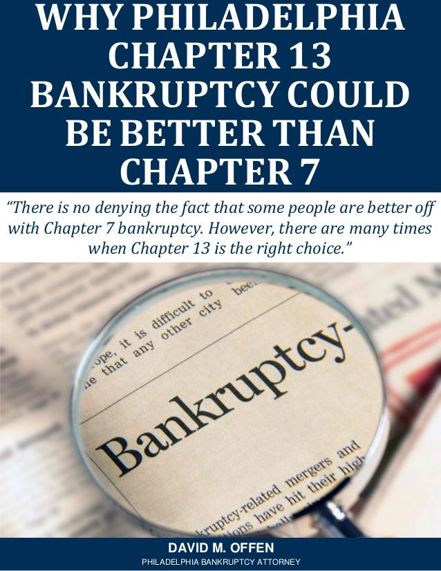 """""""There is no denying the fact that some people are better off with Chapter 7 bankruptcy. However, there are many times whe..."""