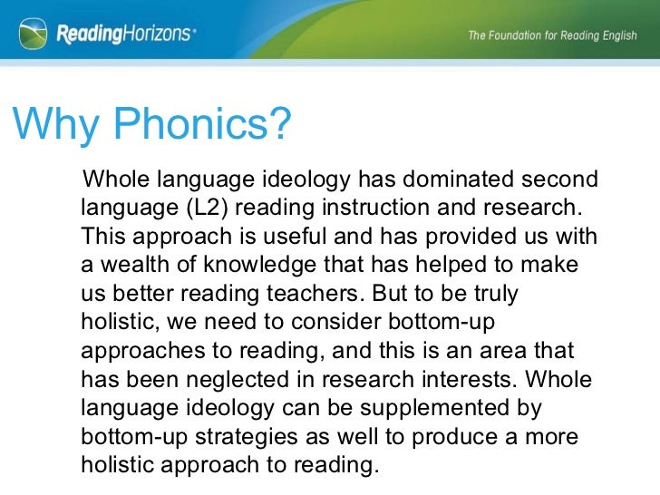 Phonics vs Whole Language