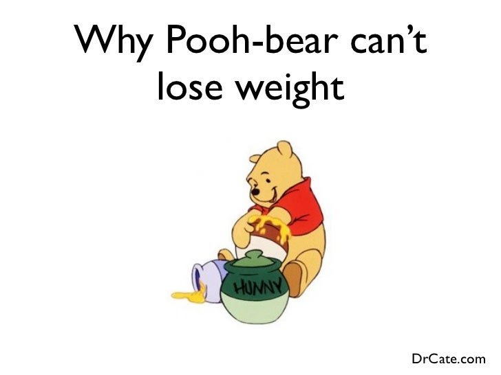 Why Pooh-bear can't   lose weight                  DrCate.com