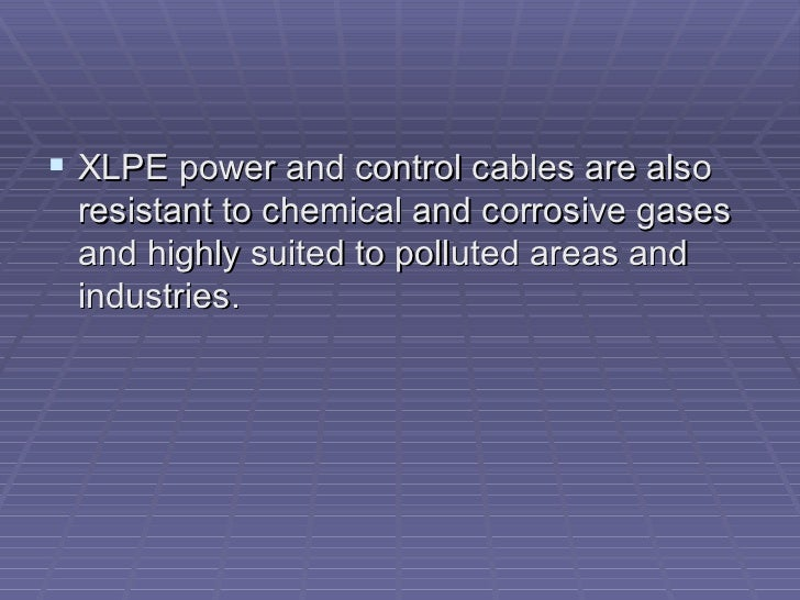 Power And Control Cables : Why power and control cables