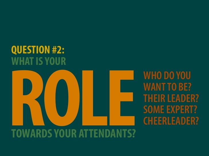 QUESTION #2: WHAT IS YOUR     ROLE                            WHO DO YOU                            WANT TO BE?           ...