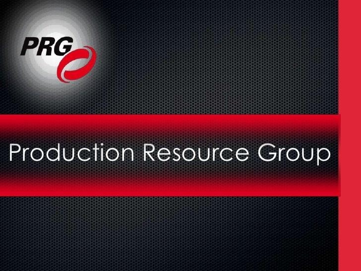 Production Resource Group