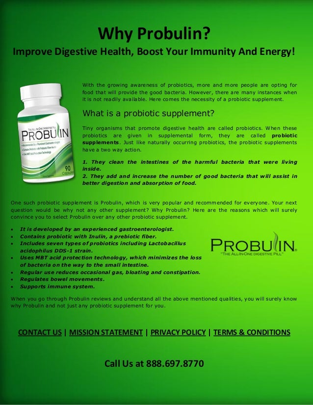 Why Probulin? Improve Digestive Health, Boost Your Immunity And Energy! With the growing awareness of probiotics, more and...