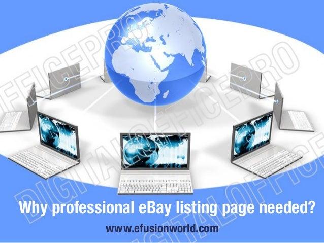 Why professional eBay listing page needed? www.efusionworld.com