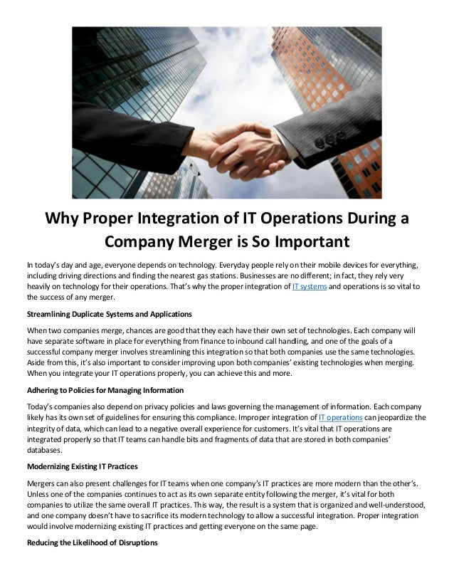 Give Me Directions To The Nearest Gas Station >> Why Proper Integration Of It Operations During A Company