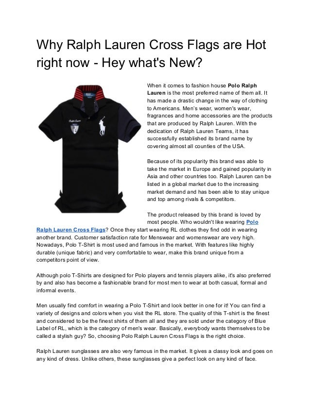 Why Ralph Lauren Cross Flags are Hot right now - Hey what s ... e2df0832557d