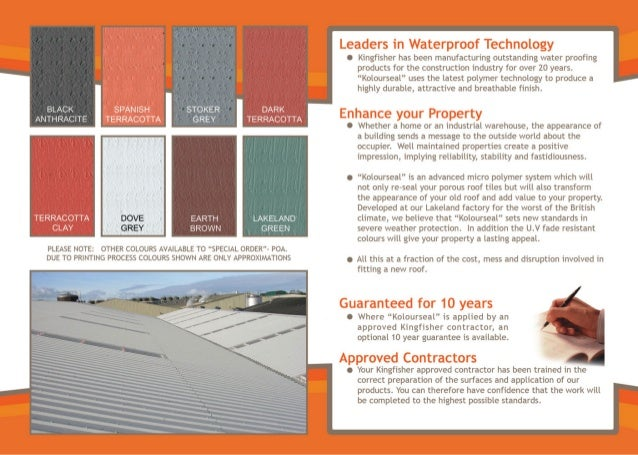 Why Renovate An Old Roof Kingfisher Kolourseal Roof Renovation