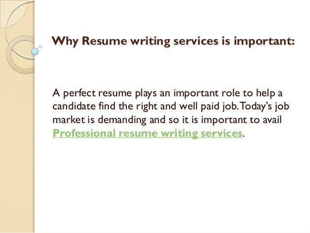 Why resume writing services is important.